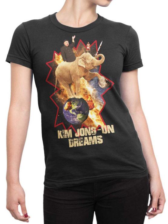 0027 Army T Shirt Kim Dreams Front Woman