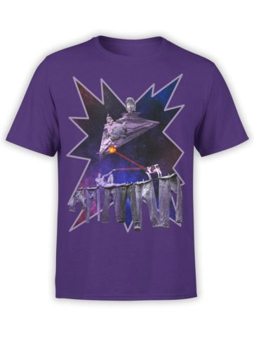 0032 Army T Shirt Chuck Norris vs Adam Front Team Purple