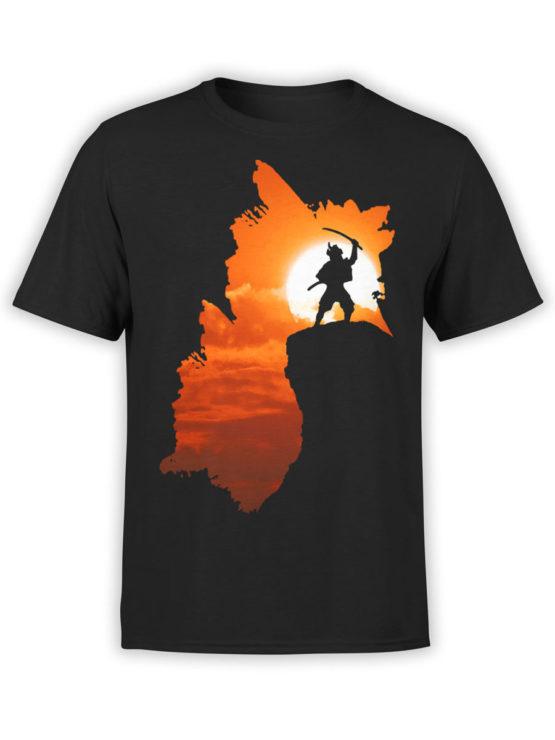 0050 Army T Shirt Samurai Silhouette Front