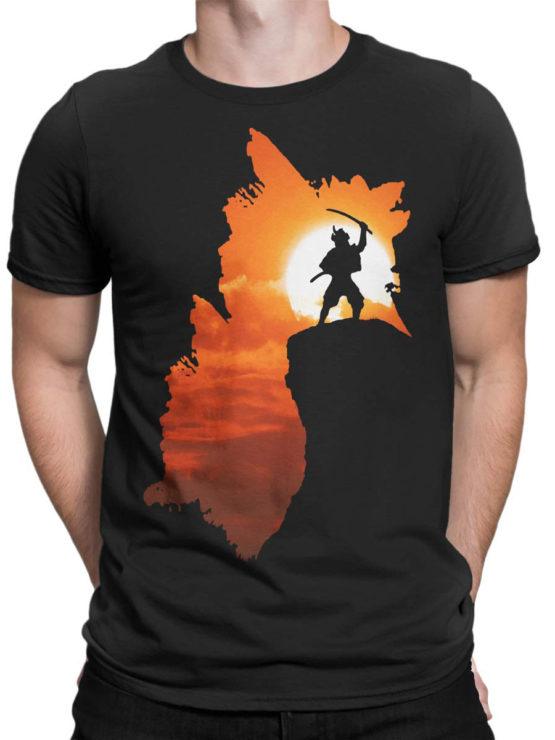 0050 Army T Shirt Samurai Silhouette Front Man