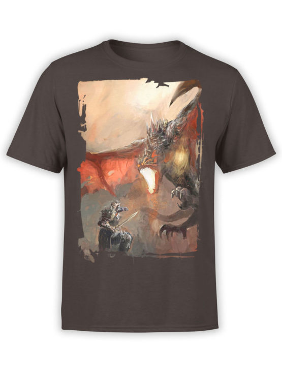 0088 Army T Shirt Dragon Front