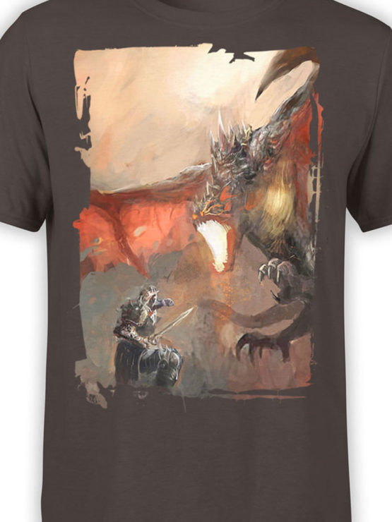 0088 Army T Shirt Dragon Front Color