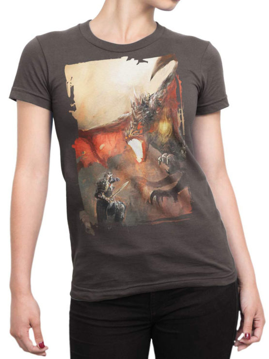 0088 Army T Shirt Dragon Front Woman
