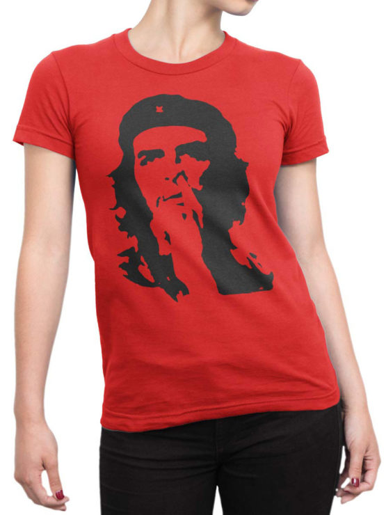 0145 Army T Shirt Che Guevara Nose Front Woman