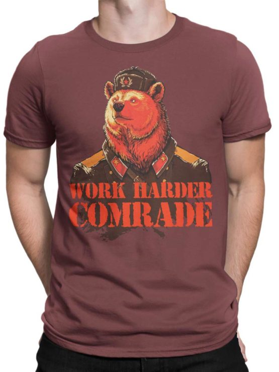0238 Army T Shirt Work Harder Front Man