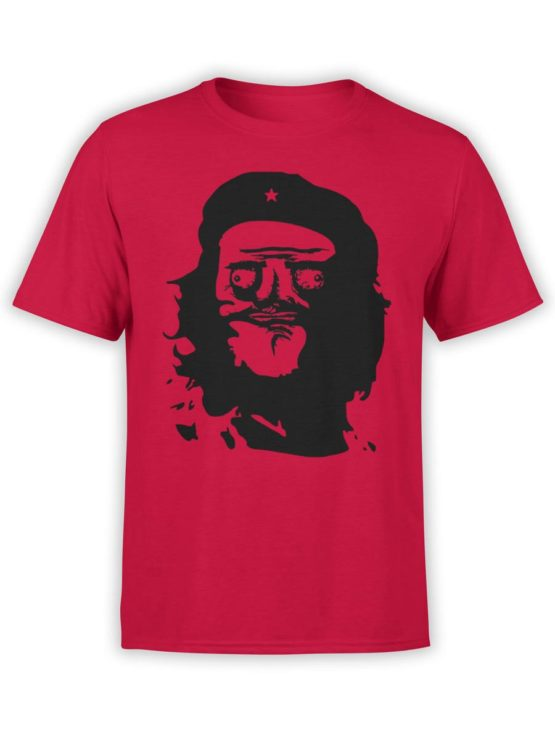 0252 Army T Shirt Meme Guevara Front Red