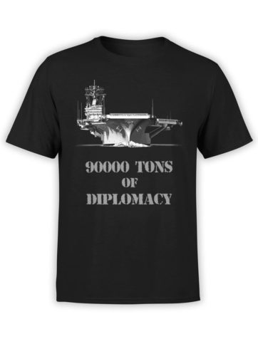 0264 Patriotic Shirts Diplomacy Front Black