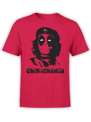 0292 Army T Shirt Chimichanga Front Red