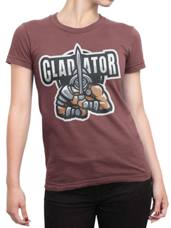 0304 Army T Shirt Gladiator Front Woman