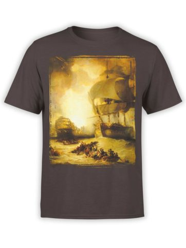 0325 Army T Shirt The Battle of the Nile Front Chocolate Brown