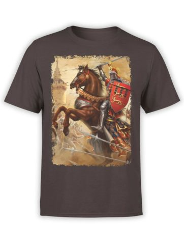 0329 Army T Shirt Battle Chocolate Brown