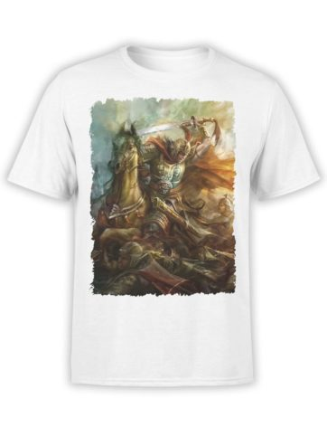 0333 Army T Shirt Fight Front White