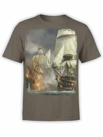 0347 Pirate Shirt Sea Battle Front Army