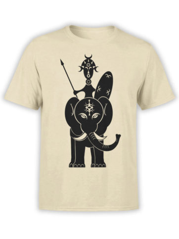 0522 Army T Shirt African Warrior Front