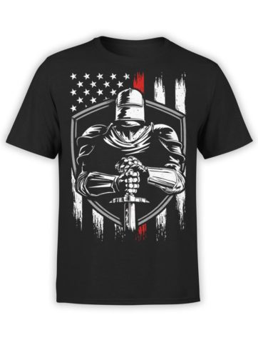 0574 Patriotic Shirts USA Knight Front