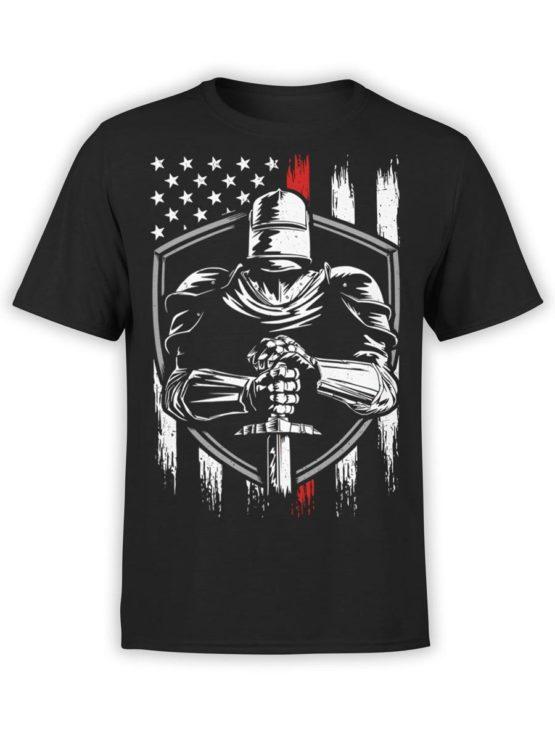 0574 Patriotic Shirts USA Knight Front