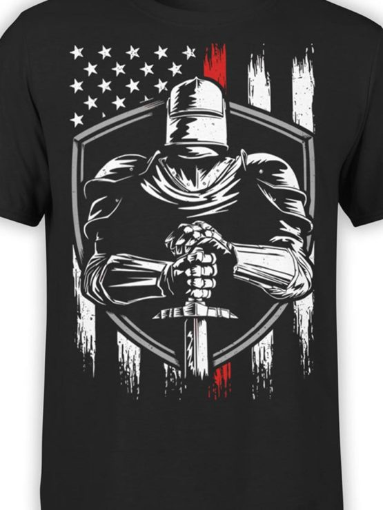 0574 Patriotic Shirts USA Knight Front Color