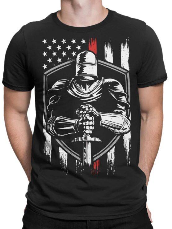 0574 Patriotic Shirts USA Knight Front Man