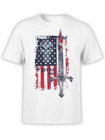 0616 Patriotic Shirts Warrior Spirit Front