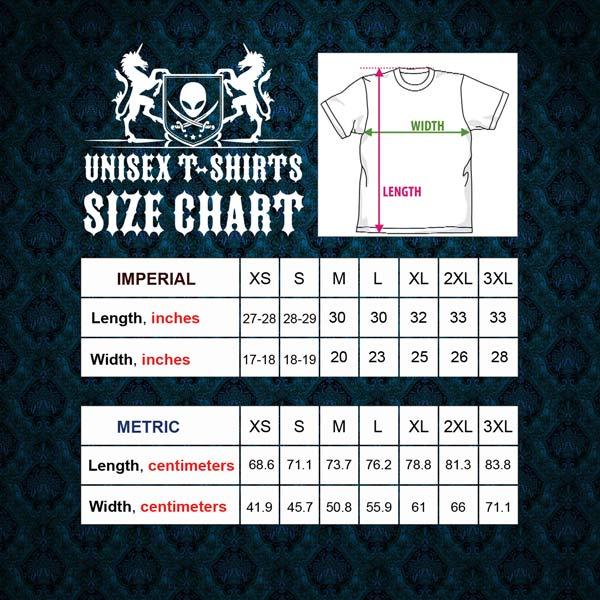 Army T-Shirt Size Chart 600