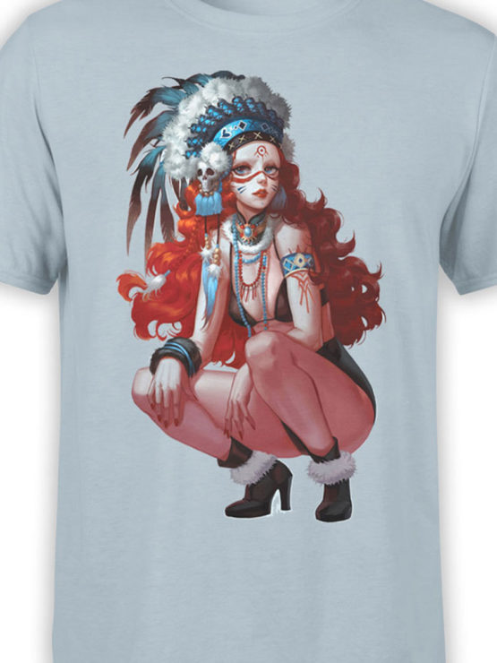 0944 Cool Shirts Art Indian Girl Front Color