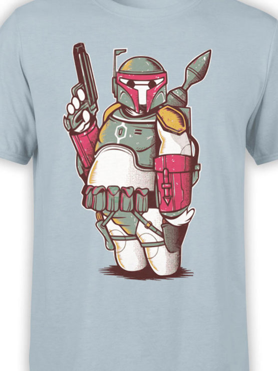 0972 Star Wars T Shirts Boba Big Front Color