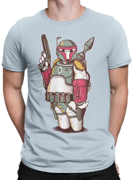 0972 Star Wars T Shirts Boba Big Front Man