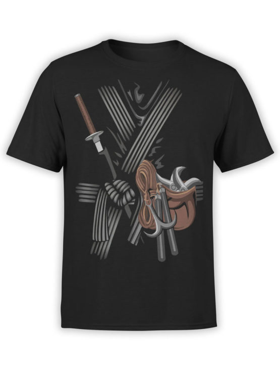 0973 Warrior T Shirt Ninja Front